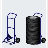 Steel Tyre Hand Trolley