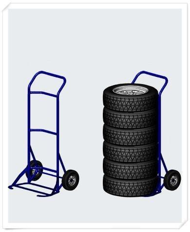 Steel Tyre Hand Trolley