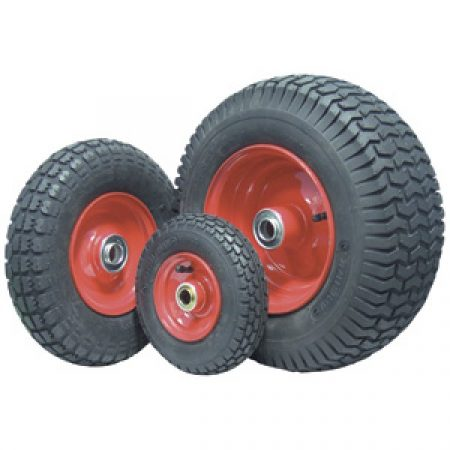 Pneumatic Wheels: Steel Rim 100-360kg