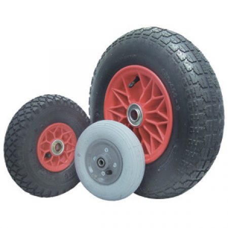Pneumatic Wheels: Poly Rim 75-200kg