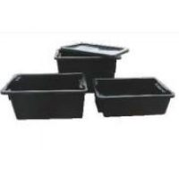 IH051D Crate 52lt Black Recycled (No 10 Crate)