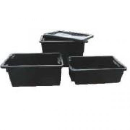 IH060D Crate 32lt Solid, Black Recycled (No 7 Crate)