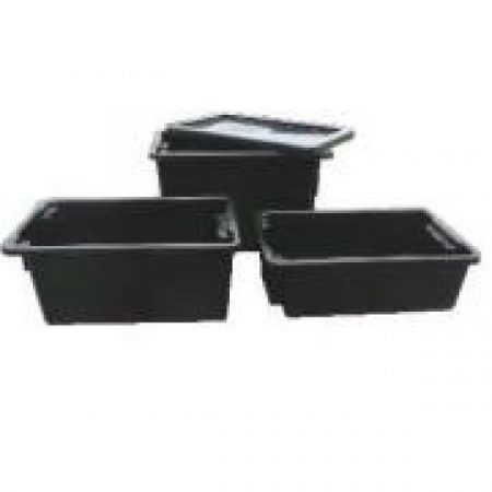 IH078D Crate 68lt Solid Black Recycled (No 15 Crate)