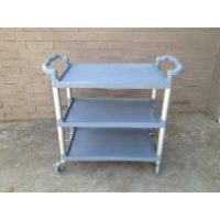Utility Cart 3-Tier Grey/Black