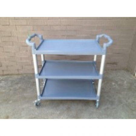 Utility Cart 3-Tier Grey/Black