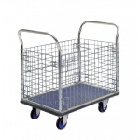Trolley Cage: NF307 Prestar Platform Trolley with Cage Sides