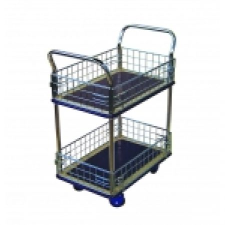 Trolley Cage: NB127 Prestar 2 Tier Trolley with Cage Sides