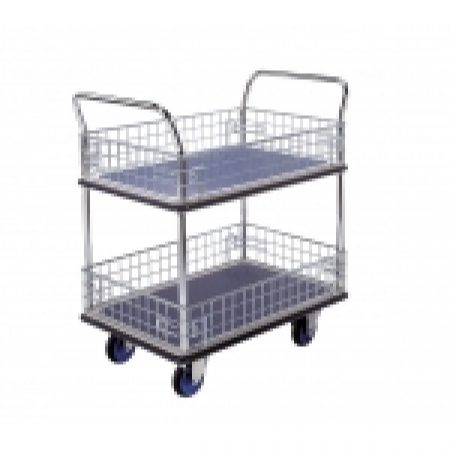 Trolley Cage: NF327 Prestar 2 Tier Trolley with Cage Sides