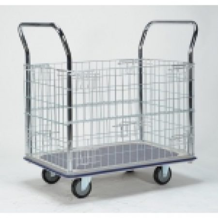 Trolley Cage: WHB307 Sumo Platform Trolley with Cage Sides