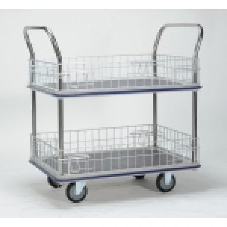 Trolley Cage: WHB327 Sumo 2 Tier Trolley with Cage Sides