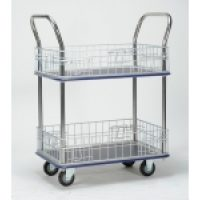 Trolley Cage: WHL127 Sumo 2 Tier Trolley with Cage Sides