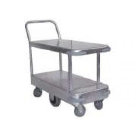 Twin Deck 6 Wheel Galvanised Trolley